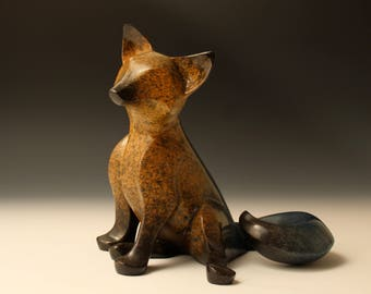 sitting kit  bronze sculpture limited edition #48