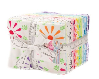"Moda - Fat Quarter Bundle ""Frolic"" by Me and My Sisters Designs--37 different fat quarters. baby fabric, kids Fabric, Pastel fabric."