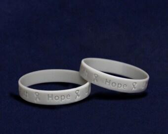 50 Brain Cancer Awareness Silicone Bracelets - 50 Bracelets (SILB-7)