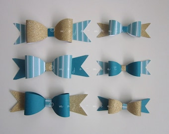 Bow Die Cuts - Pack of 6 - Assembled and Ready To add Straight On To Your Projects
