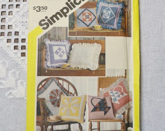 Simplicity 6146 Sewing Pattern Patchwork Pillows DIY Sewing Vintage Sewing Pattern PanchosPorch