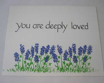 You are Deeply Loved - Set of 5 cards & envelopes
