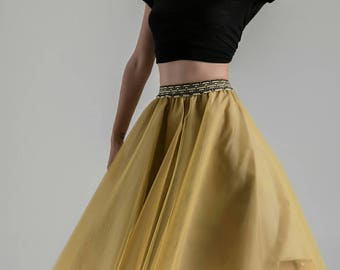 Tulle Skirt midi & mini in Mustard | Available in various colours with hard tulle