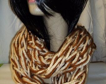 Arm Knit Infinity Scarves