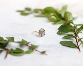 Rectangle Watermelon Tourmaline Ring
