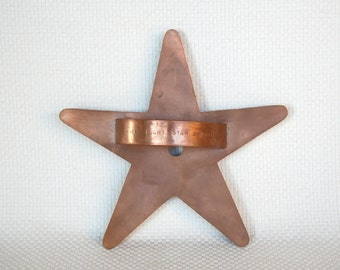 "Martha By Mail Martha Stewart Giant Solid Copper Cookie Cutter ""Star Light Star Bright"" Solid Copper Star Cookie Cutter"