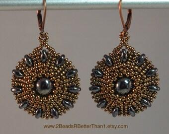 Heliotrope Earrings Kit (beads only)
