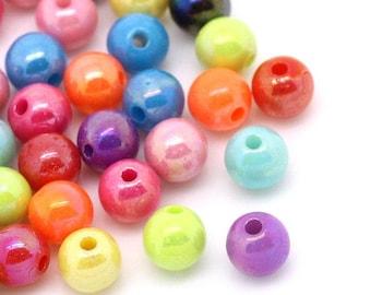6mm Acrylic Bubblegum Beads 500 beads, 2533, 402a
