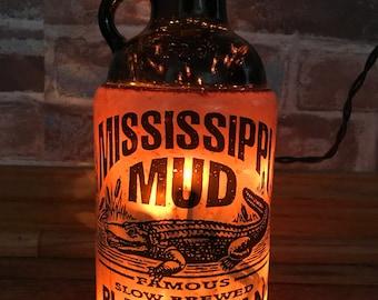 Lighted Mississippi Mud Bottle