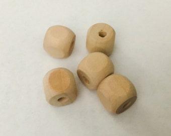 "5-50 0.5"" Wood Cube Beads (Raw)"