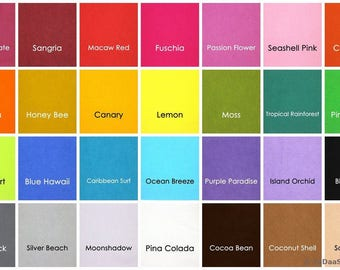 6 Bamboo Felt  10 x 11 inch sheets - Your Choice of Colors