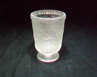 Fenton Frosted Votive