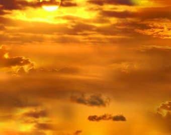 Gold Sunrise Fabric - Elizabeth Studios - 326E