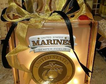 Marine Corp Custom made lamp
