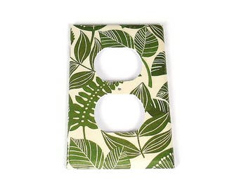 Outlet Plate Light Switch Cover  in Rainforest   (206O)