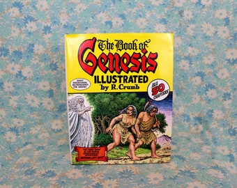 R. Crumb Illustrated Book Of Genesis Hardcover Book. R. Crumb Gift Book. Outsider Trippy Art. Illustrated Bible Comic Book By R. Crumb