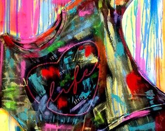 love 10 sandra cremonese contemporary canvas art modern street urban abstract art acrylic oil 60 x 80 single signed