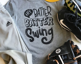 Hey batter batter, swing, baseball shirt, baseball brother, baseball sister, baseball fan, baseball t shirt, biggest fan, baseball