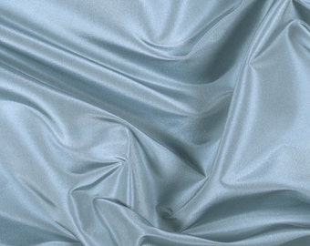 "54"" Wide 100% Silk Taffeta Dusty Blue by the yard (9000MT9)"