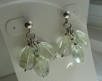 Green Amethyst Earrings  -  #332
