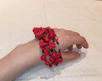 Polymer clay bracelet Hand Made