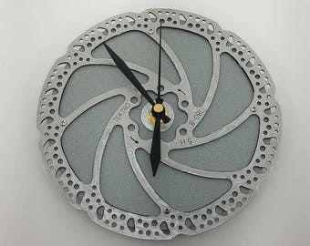 Recycled Bicycle Brake Rotor Wall Clock, Bicycle Gifts, Gifts for Cyclists, Bicycle Gift for Him, Bicycle Wall Clocks, Bicycle Gifts for Her