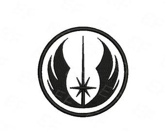 Machine Embroidery design - Star Wars Jedi order Embroidery design - instant download digital file