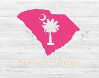 South Carolina Palmetto Decal// SC Sticker// Palmetto Decal