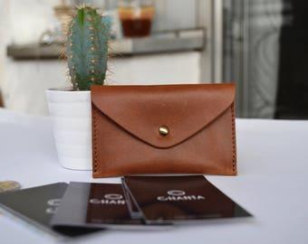 Leder Visitenkarten Etui ,Mini Geldbörse , Leder Brieftasche , für Herren, für Damen ,Vintage, blau, Unisex,