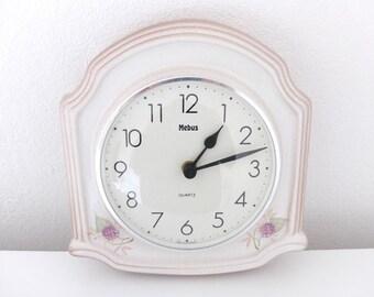 Clock Kitchen Clock Wall Clock Ceramic Clock Ceramic Blackberries romantic vintage