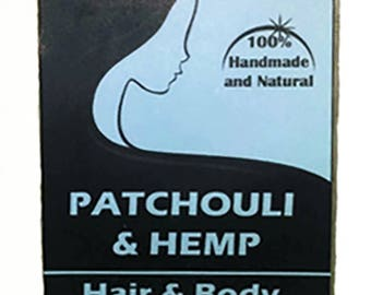 Patchouli Hemp Shampoo Bar - Hemp Oil Soap - Solid Shampoo Bar - All Natural Shampoo - Handmade Shampoo - Stocking Stuffer - Earthy Soaps