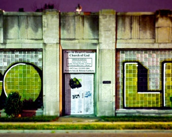 "Detroit photography, Neglected Beauty, Fine Art Print, Abandoned Building, architecture, landscape color photography ""GOLD"""