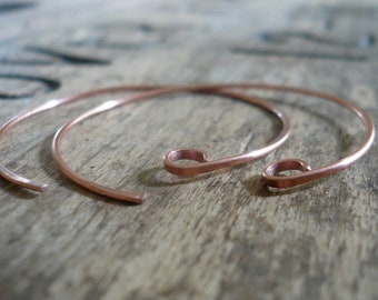 Shoals Copper Earwires - Handmade. Handforged
