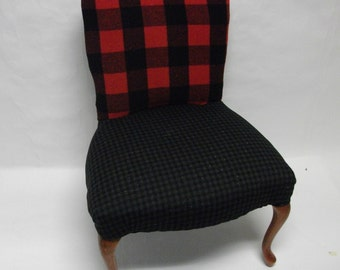 Elmer Fudd Upholstered Chair with Cabriole Legs