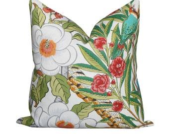 G P & J Baker Imperial Pheasant Fuchsia/Linen - Flowers