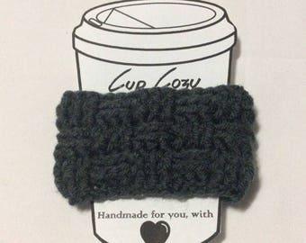 Hand crochet mug cozy - Basket weave - coffee sleeve - stocking stuffers - winter accessory -  reusable coffee sleeve - Christmas