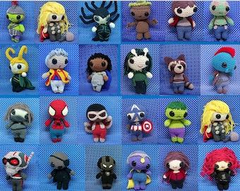 Infinity war - Avengers full set of 32 PDF crochet patterns **USabbrevations**  inspired by Thor, iron man, spiderman, infinity war