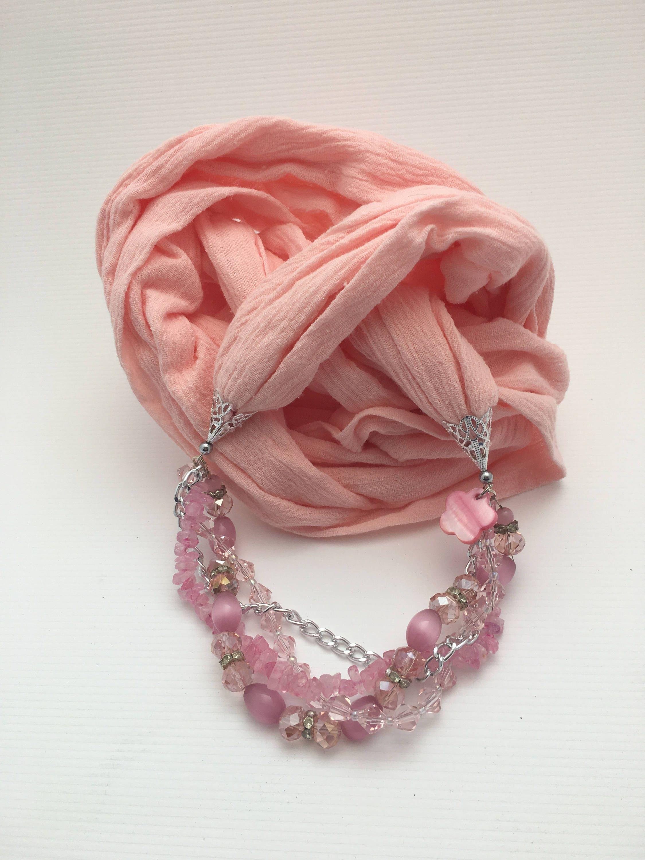 ladycrow pink scarf tartan velvet p infinity asp silk