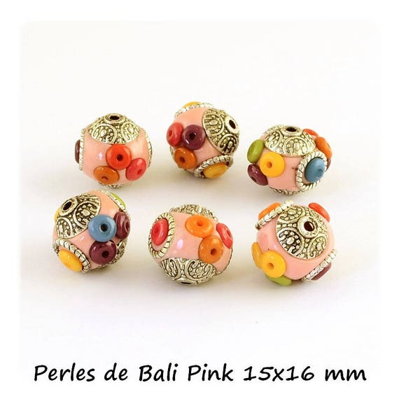 Pearl of Bali 14 x 16 mm ல் [Pink] x 1