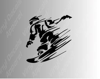 Snowboarding extreme sports die cut vinyl decal sticker