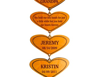 Personalized Grandparents Gift with Grandchildren Names and Birthdays - Grandma Mothers Day Gift  from Grandkids - Gift for Grandpa - Plaque