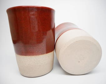 Red Naked Overlap Cup Set of Two