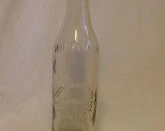 c1915 Standard Bottling Works St. Johnsbury, VT., Clear Embossed Crown Top Soda Bottle 8 ounces, Vermont Soda Bottle