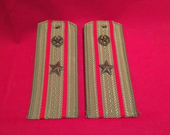 Soviet Army 1960's Motorized Rifles Officer Shoulderboards