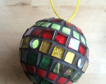 Mosaic Christmas Bauble