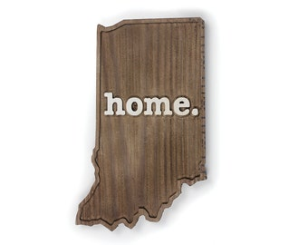Indiana home. Rough Cut Mill Wood Wall Hanging