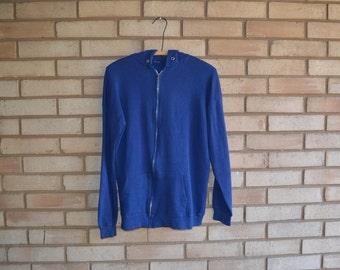 Vintage Super Soft Hooded Zip Up Sweatshirt Medium