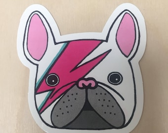 Bowie bulldog sticker