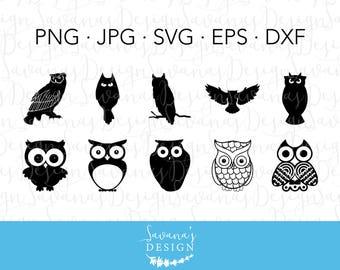 SVG Owl, Owl Silhouette SVG, Silhouette Owl, Halloween Owl Clip Art, Owl DXF File, Owl Eps, Owl Silhouette, Owl Jpg, Owl Svg, Owl Svg