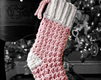 FREE DOMESTIC SHIPPING! Baby Christmas Stocking, Blue Stocking, Pink Stocking, Baby's First Christmas